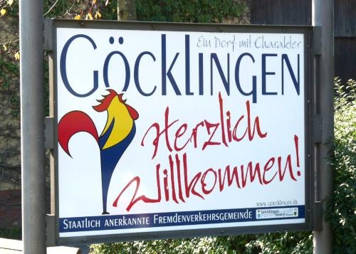 Keine Gockelkrähmeisterschaft Weinfest Göcklingen